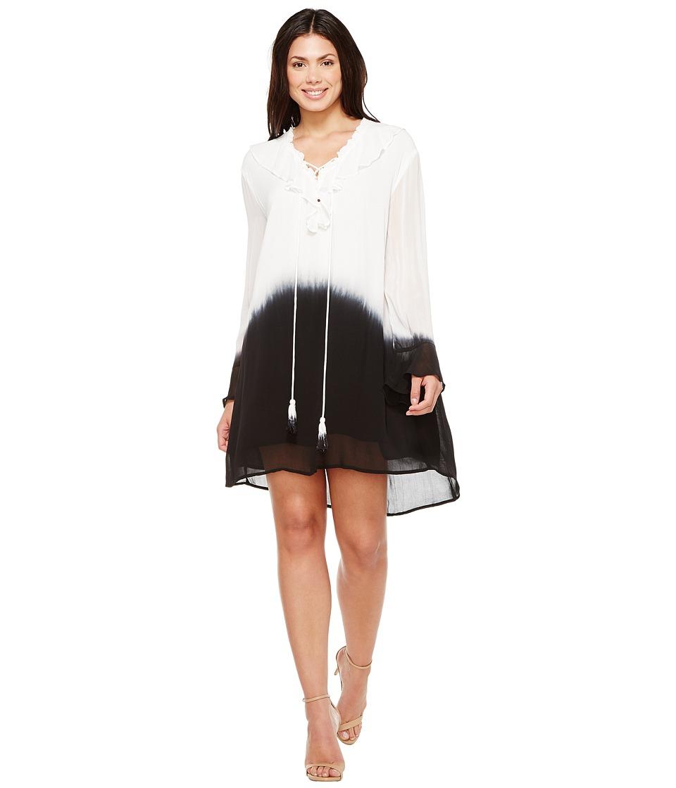 Religion - Ecstasy Tunic (White/Black Ink) Women's Clothing