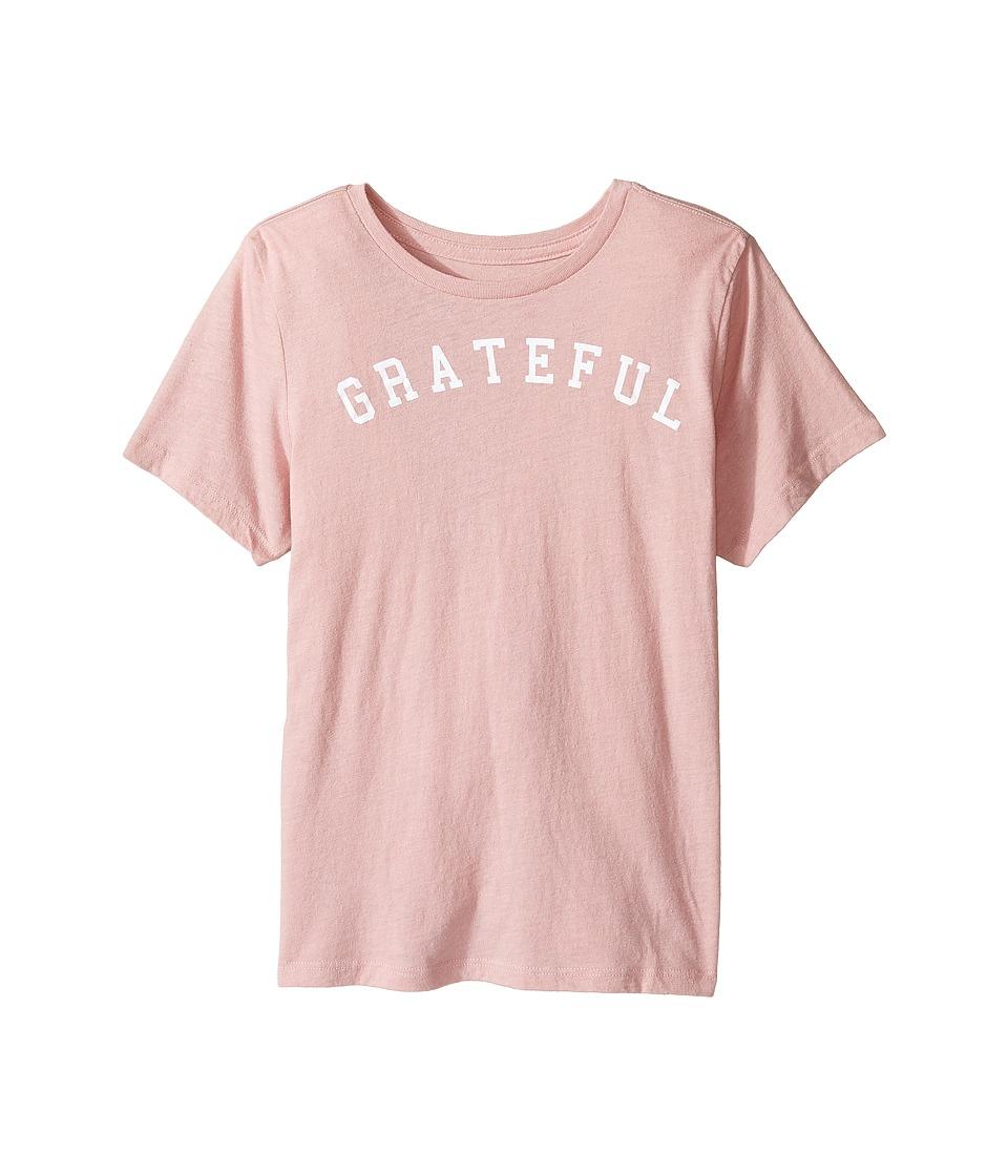 Spiritual Gangster Kids - Grateful Arch Tee (Toddler/Little Kids/Big Kids) (Blush) Girl's T Shirt