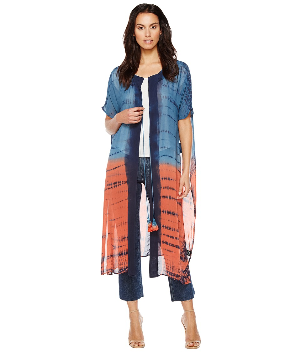 Religion - Purpose Kaftan (Indian Teal/Spiced Coral) Women's Clothing