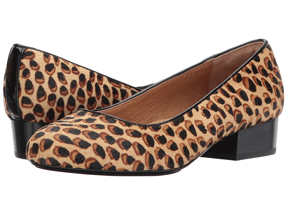 Sofft Belicia (Brow/Black Leopard Calf Hair/Cow Patent) Women