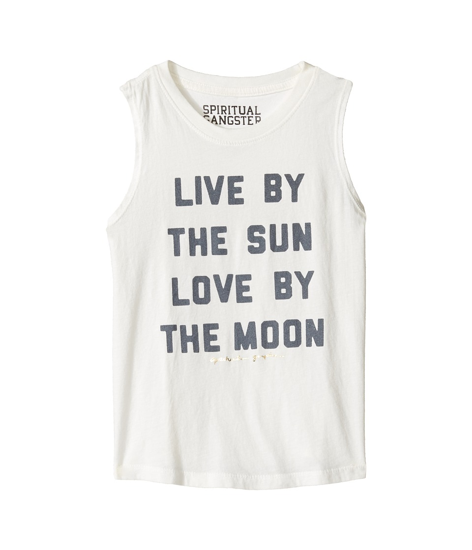 Spiritual Gangster Kids - Live and Love Muscle Tank Top (Toddler/Little Kids/Big Kids) (Stardust) Girl's Sleeveless