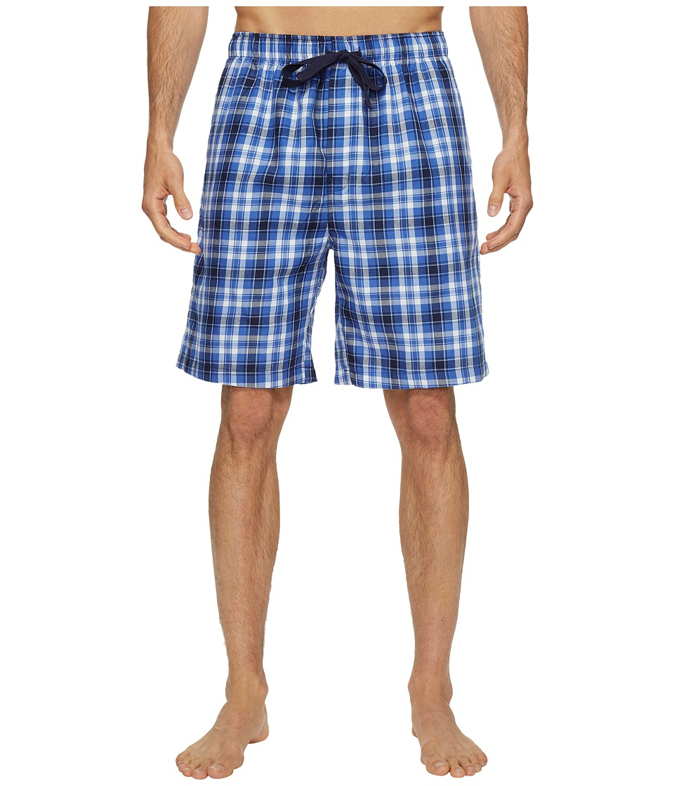 Jockey - Poly/Rayon Sleep Jams (Blue/Navy Plaid) Men's Pajama