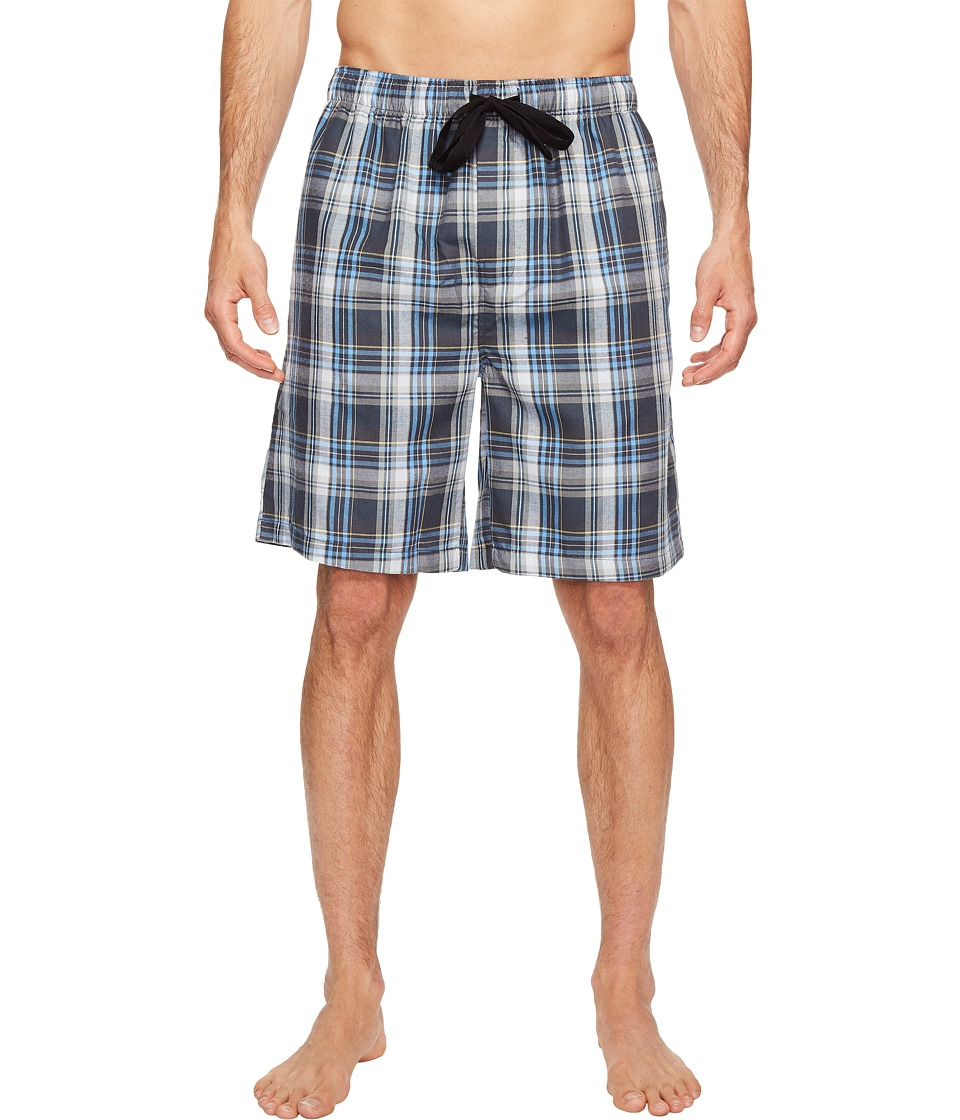 Jockey - Poly/Rayon Sleep Jams (Grey/Blue Plaid) Men's Pajama