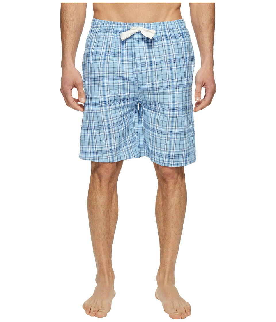 Jockey - Fancy Chambray Plaid Sleep Jam (Blue) Men's Pajama