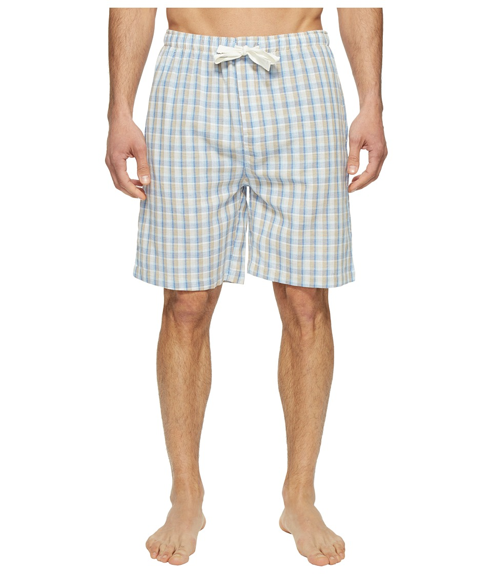 Jockey - Fancy Chambray Plaid Sleep Jam (Tan) Men
