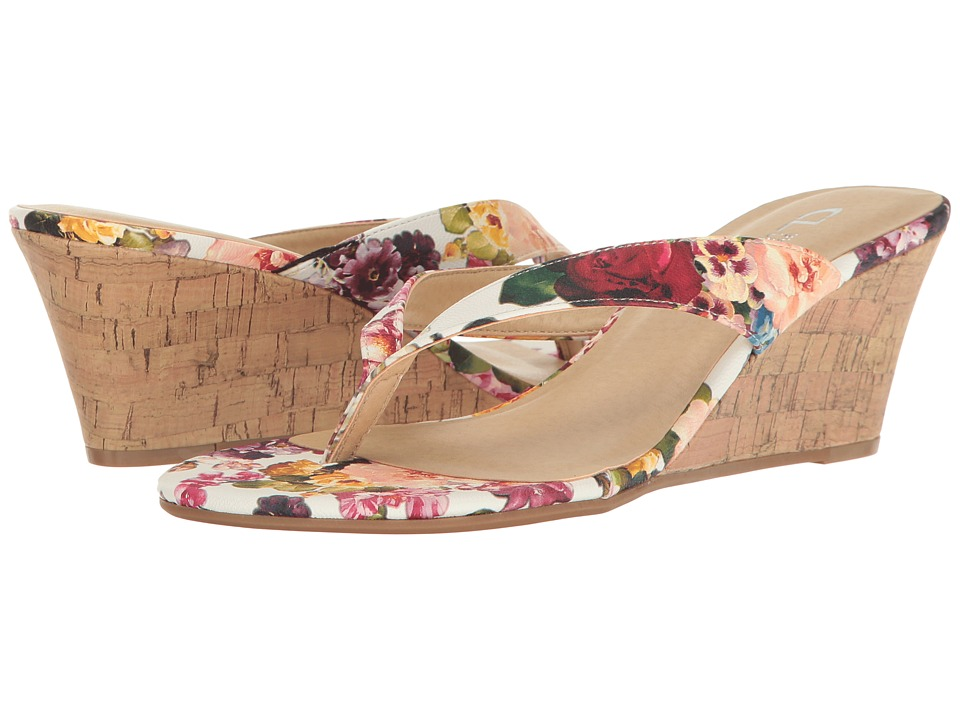 CL By Laundry - Tawny (White Rose Fabric) Women's Sandals