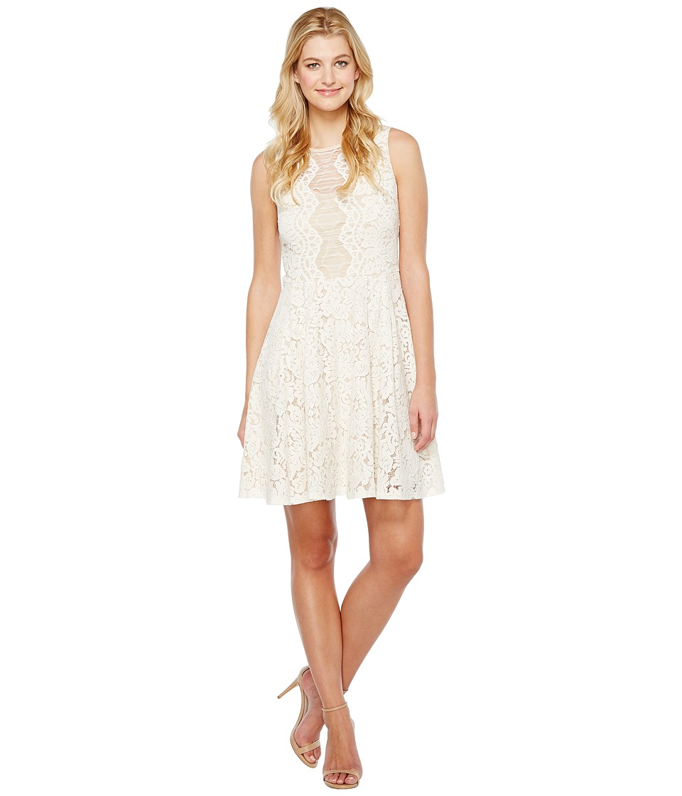 Christin Michaels - Harriet Sleeveless Lace Dress (Ivory/Nude) Women's Dress
