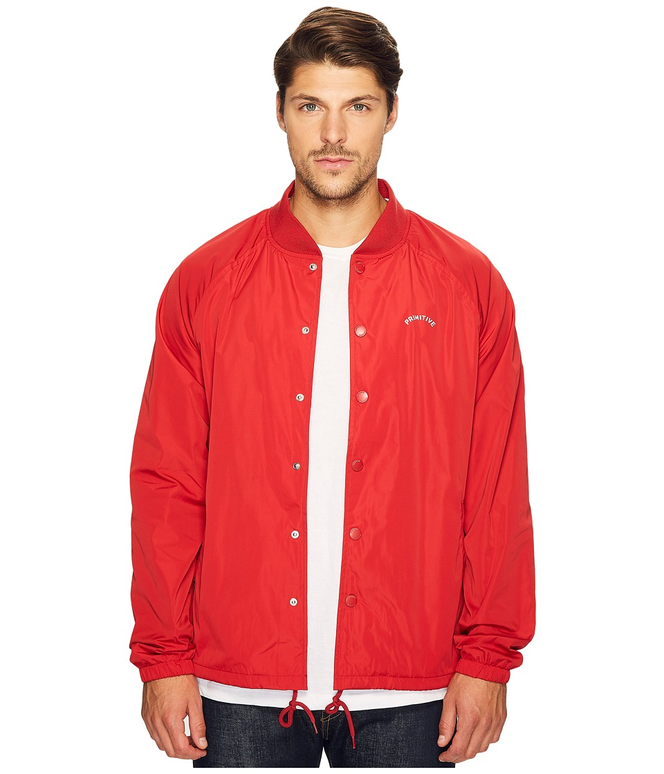 Primitive - Varsity Coach Jacket (Blood Red) Men's Coat