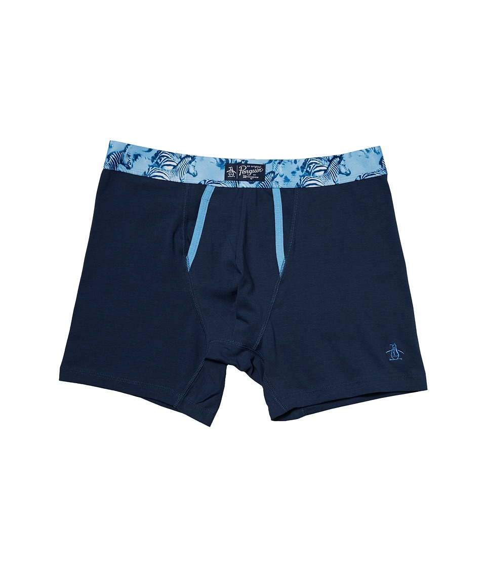 Original Penguin - Boxer Brief (Dark Denim/Zebra Herd Waistband) Men's Underwear