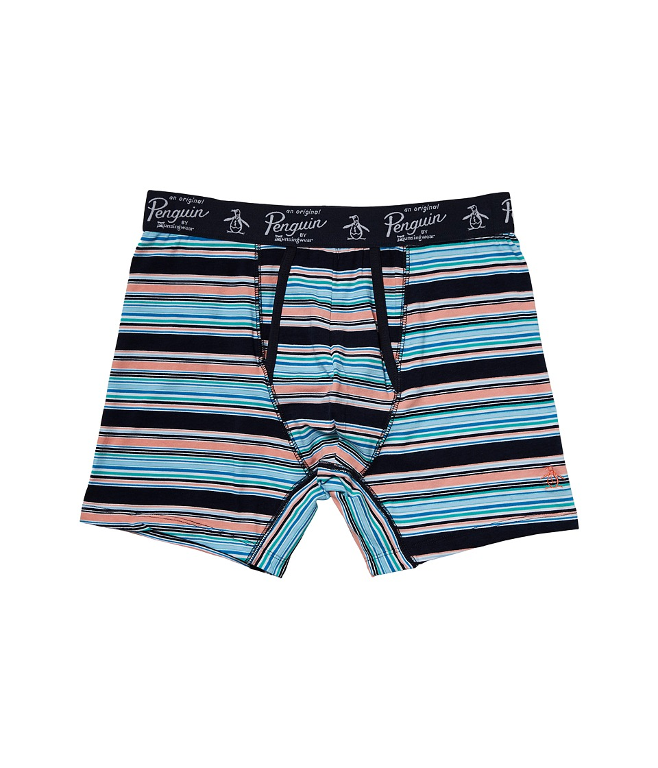 Original Penguin - Boxer Brief (Medieval Blue Trail Stripe) Men's Underwear