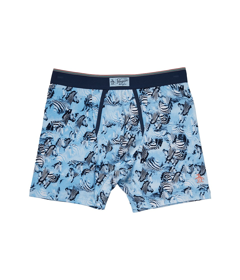 Original Penguin - Boxer Brief (Blue Bell Zebra Herd) Men's Underwear