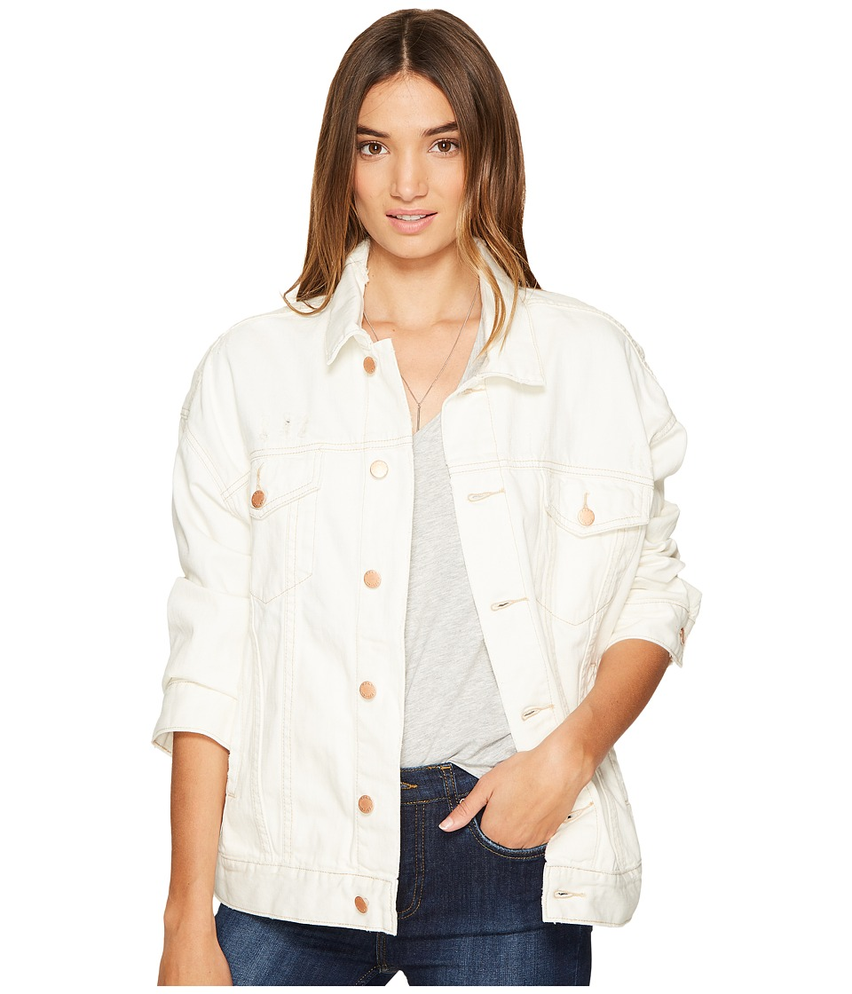 Free People - Denim Trucker Jacket (White) Women's Coat