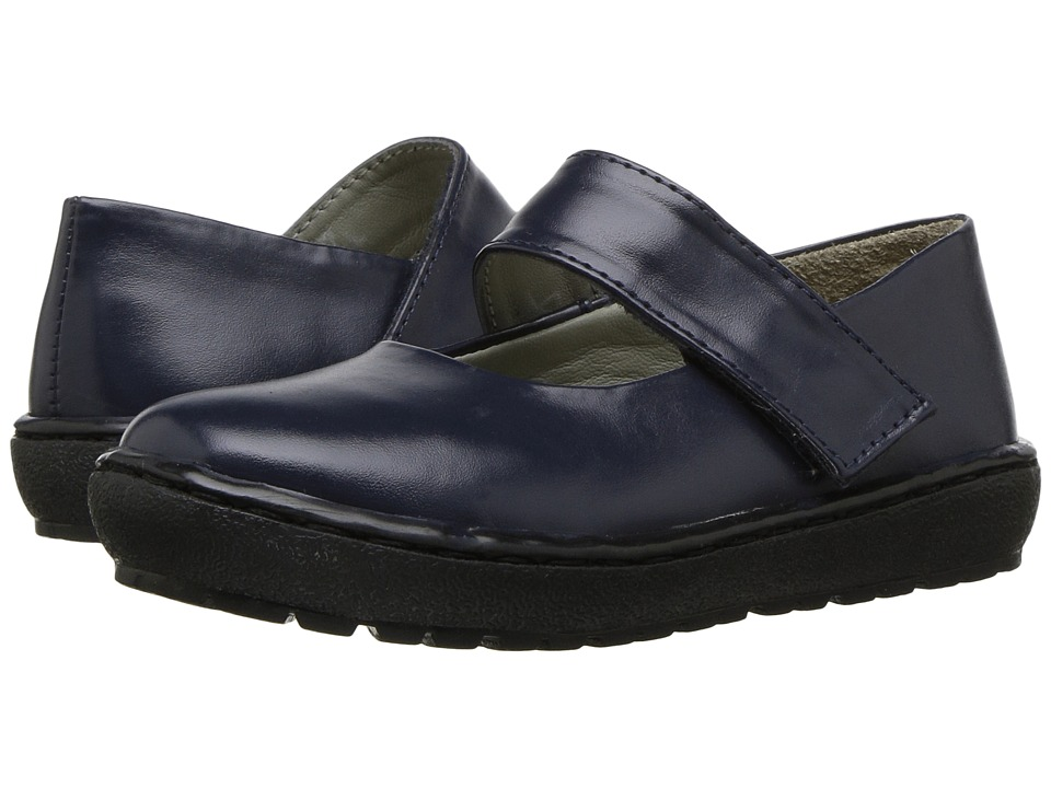 Pazitos - Contempo MJ PU (Toddler/Little Kid) (Navy) Girl's Shoes
