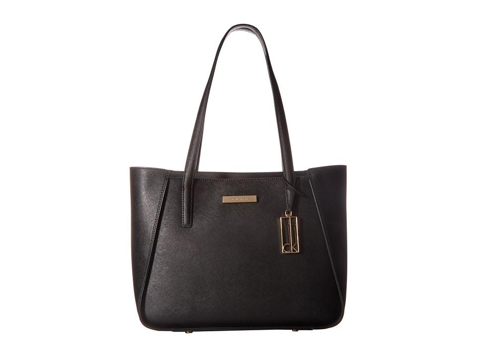 Calvin Klein - Marisa Saffiano Tote (Black) Tote Handbags
