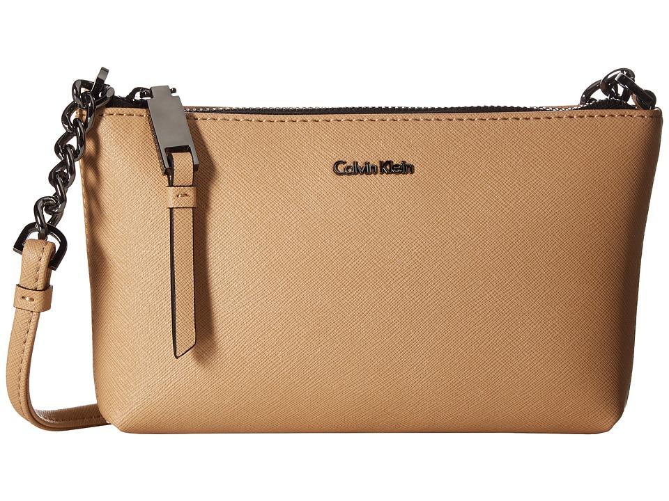 Calvin Klein - Hayden Saffiano Key Item Crossbody (Nude) Cross Body Handbags