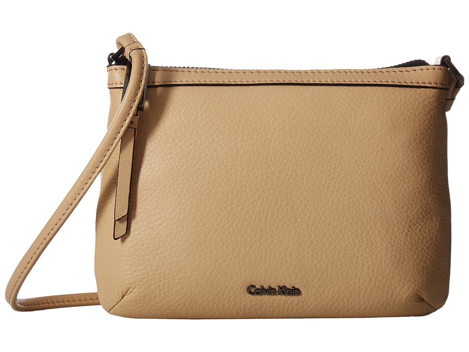 Calvin Klein - Carrie Pebble Key Item Crossbody (Nude) Cross Body Handbags