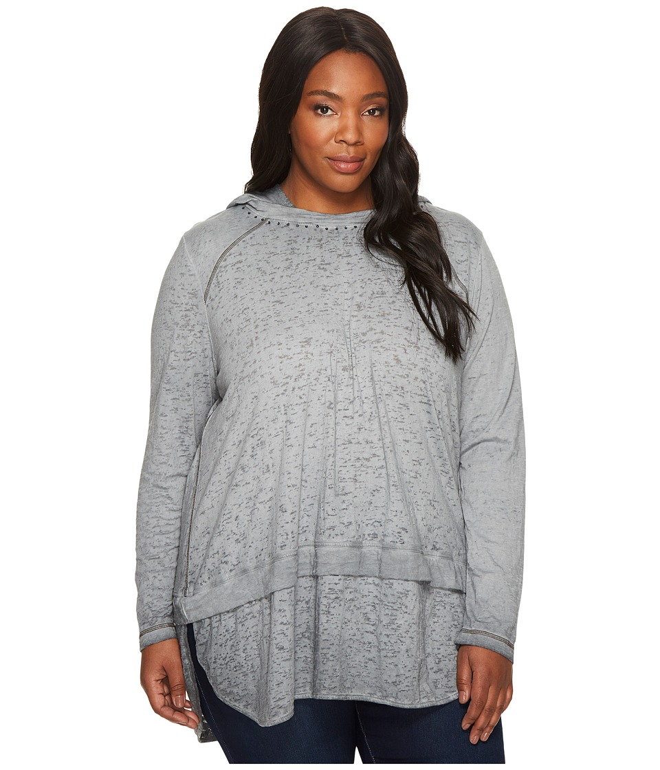 Jag Jeans Plus Size - Plus Size Magna Hoodie in Burnout Jersey (Charred) Women's Sweatshirt