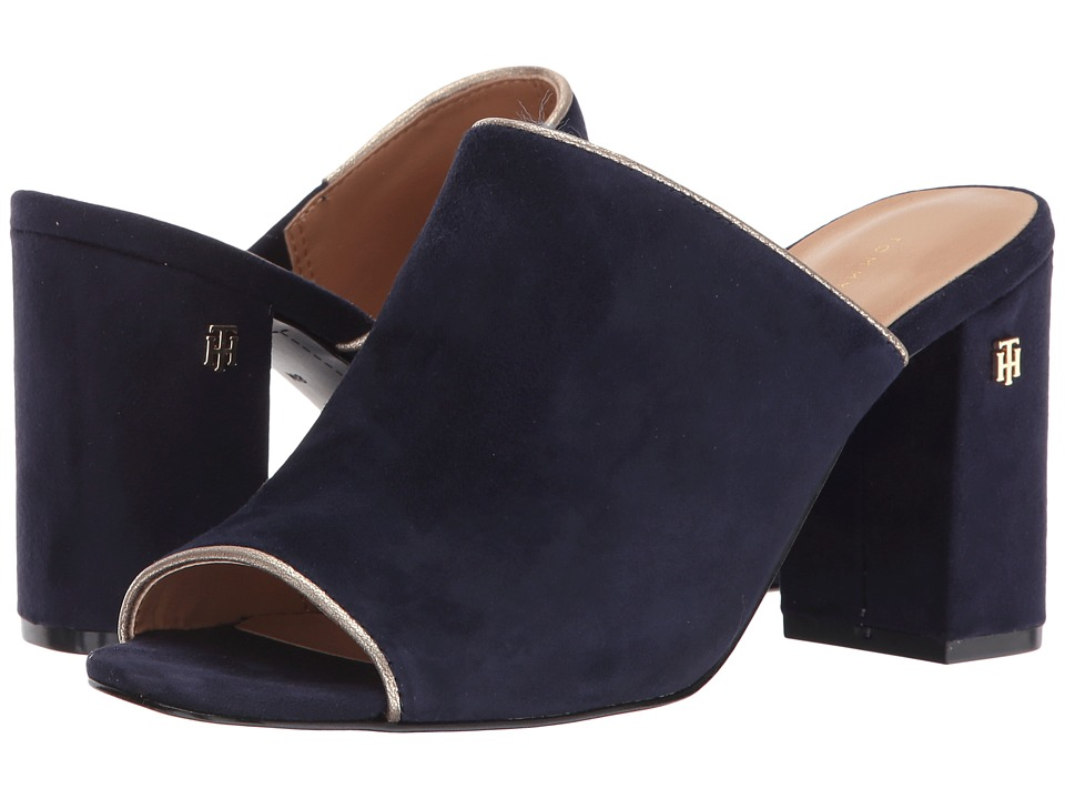 Tommy Hilfiger - Sayna (Navy Suede) Women's Shoes