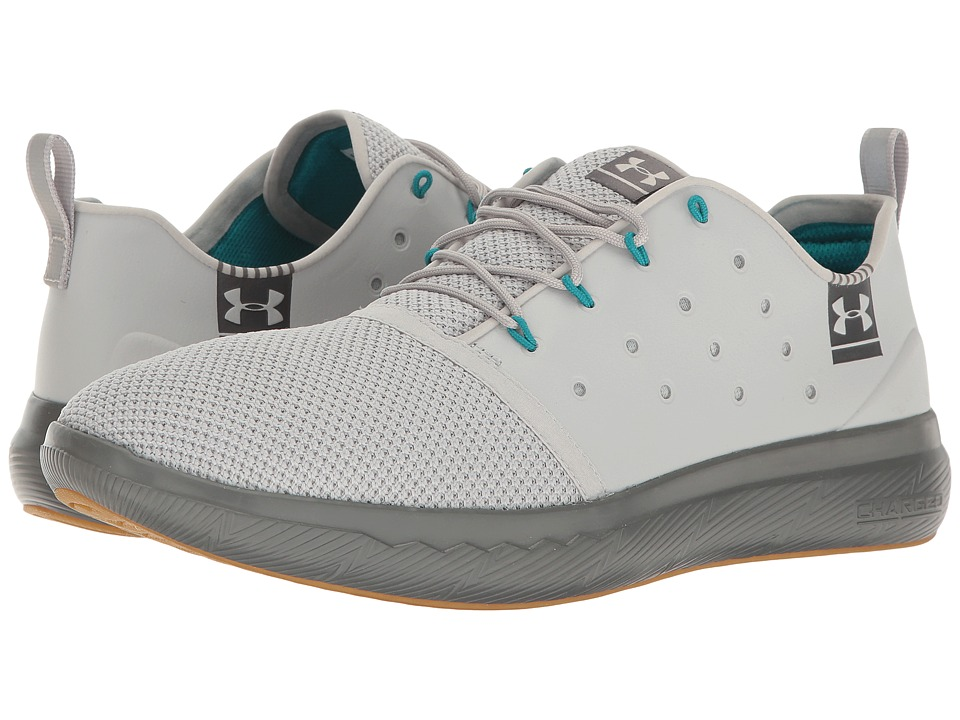 Under Armour - UA Charged 24/7 Low Leather (Aluminum/Graphite) Men's Shoes