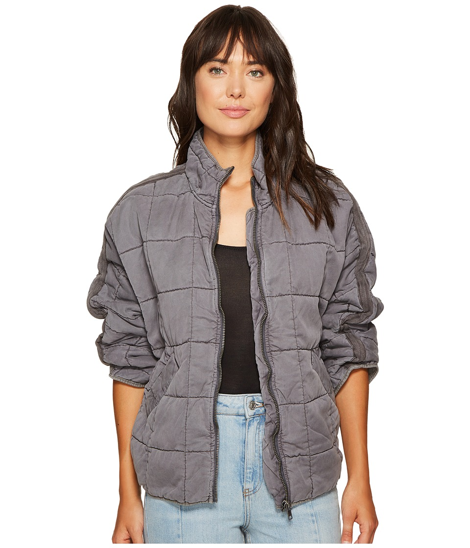 Free People - Dolman Quilted Jacket (Carbon) Women's Coat