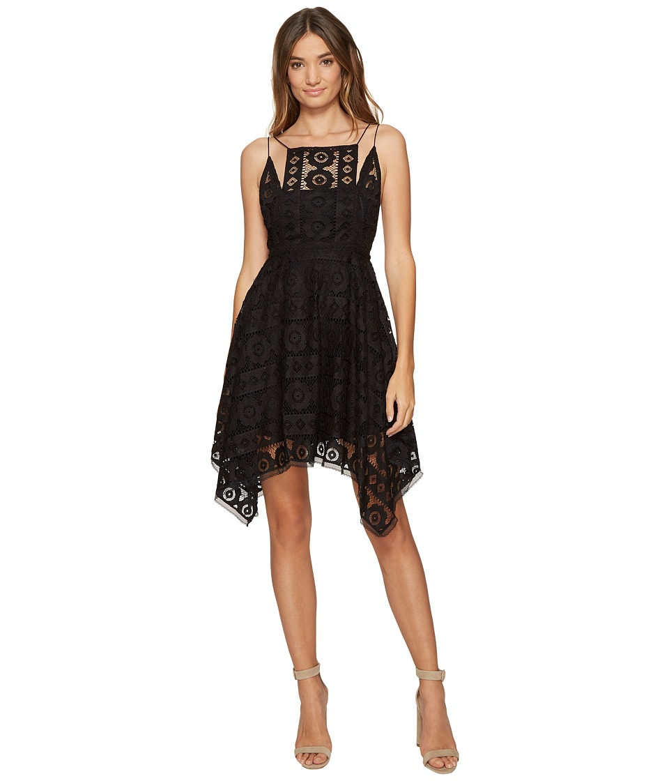 Free People - Just Like Honey Lace Dress (Black) Women's Dress
