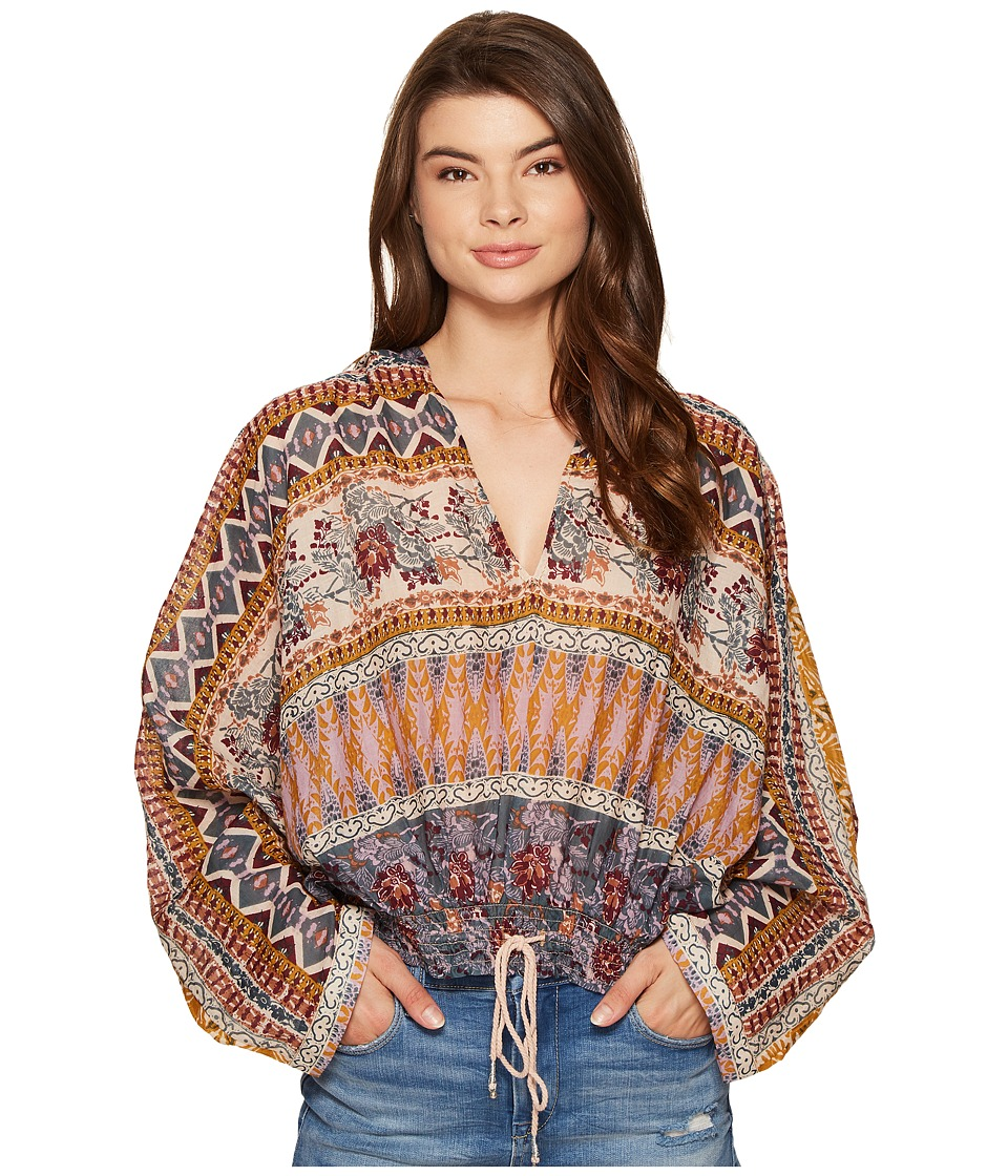 Free People - Hold On Tight Gauze Pullover (Sand) Women's Clothing