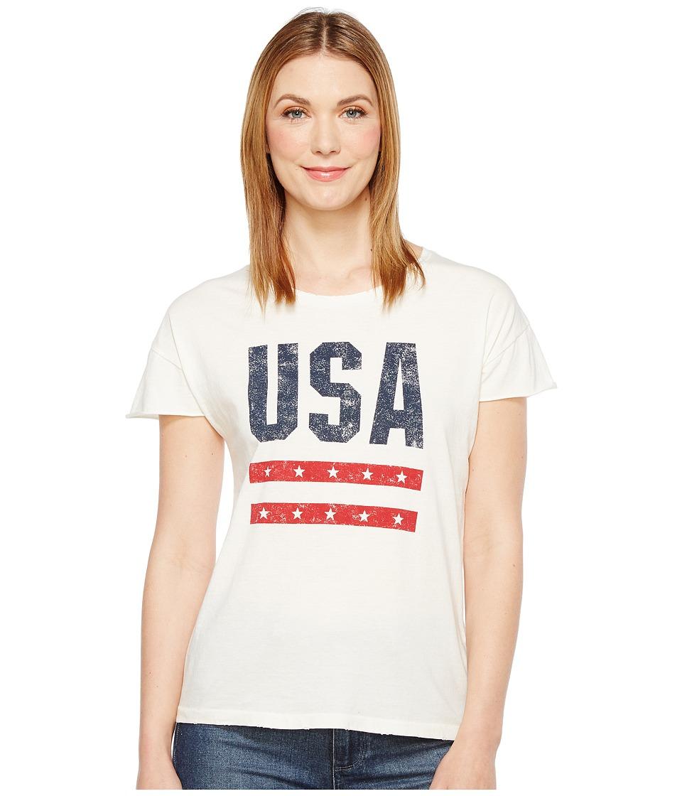 Alternative - Cotton Jersey Distressed Rocker Tee (Vintage White Reactive) Women's T Shirt