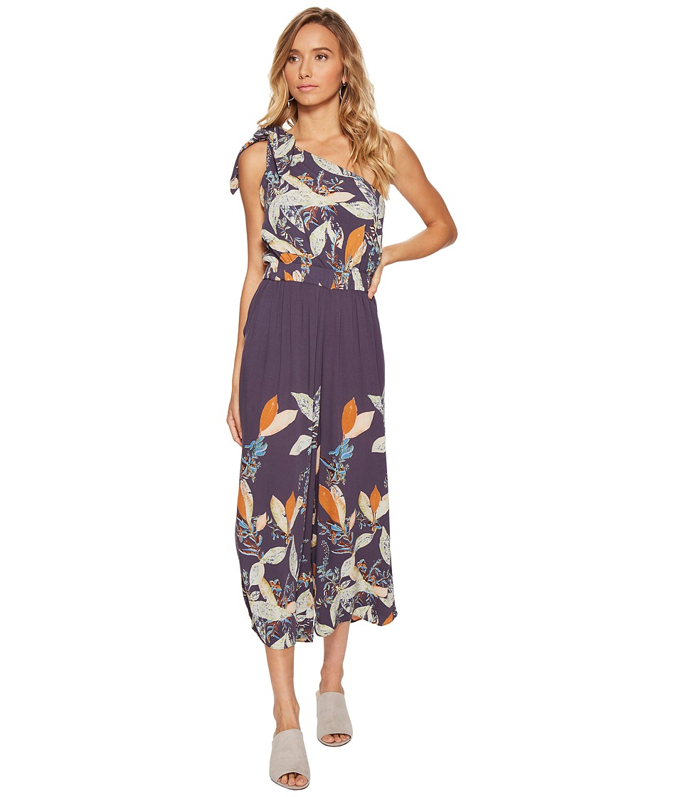 Free People - Island Time Asymmetrical One-Piece (Navy) Women's Jumpsuit & Rompers One Piece