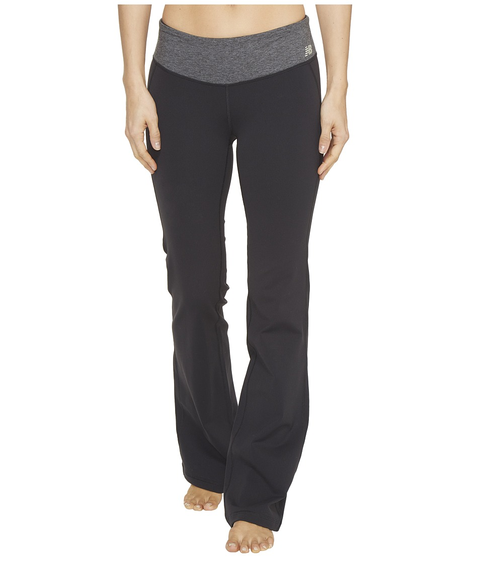 New Balance - Premium Performance Bootcut Pants (Black/Black Heather) Women's Casual Pants