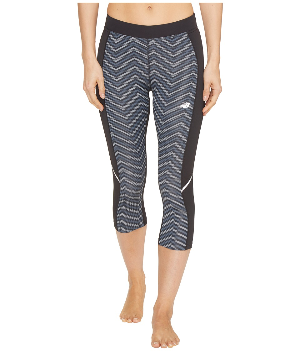 New Balance - Accelerate Printed Pants (Black/Grey) Women's Workout