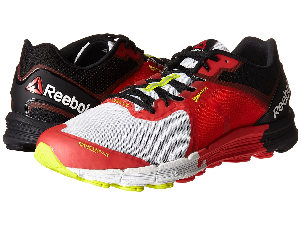 Reebok - One Guide 3.0 (Red Rush/Neon Cherry/White) Men's Shoes