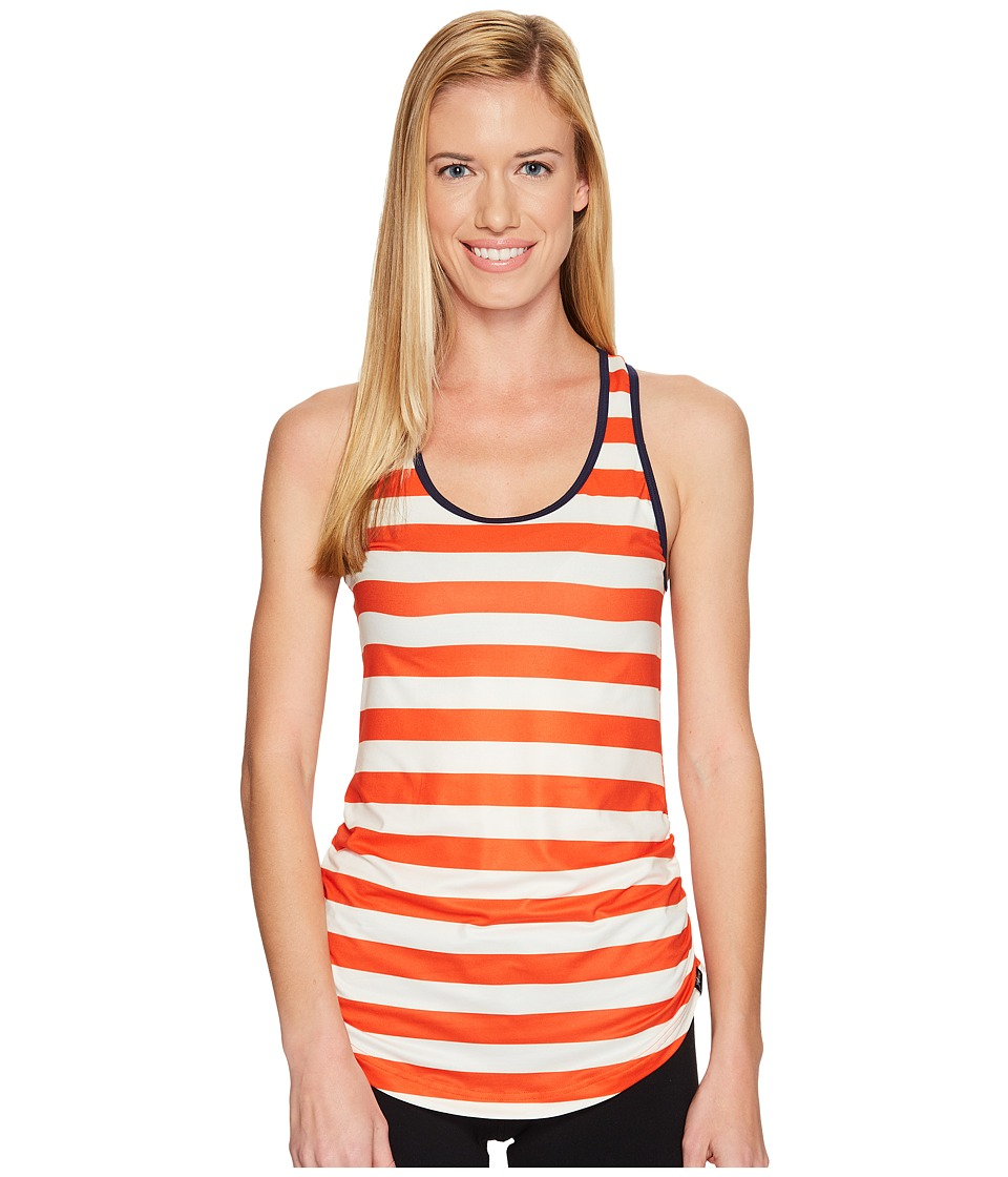 New Balance - Perfect Tank Top (Fireball/Pearl Stripe) Women's Sleeveless