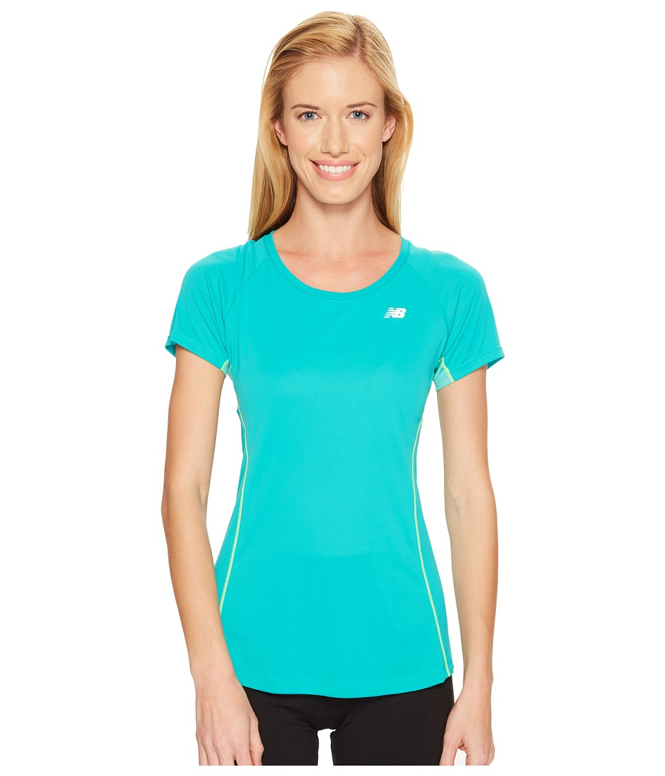 New Balance - NB Ice Short Sleeve (Galapagos) Women's Clothing