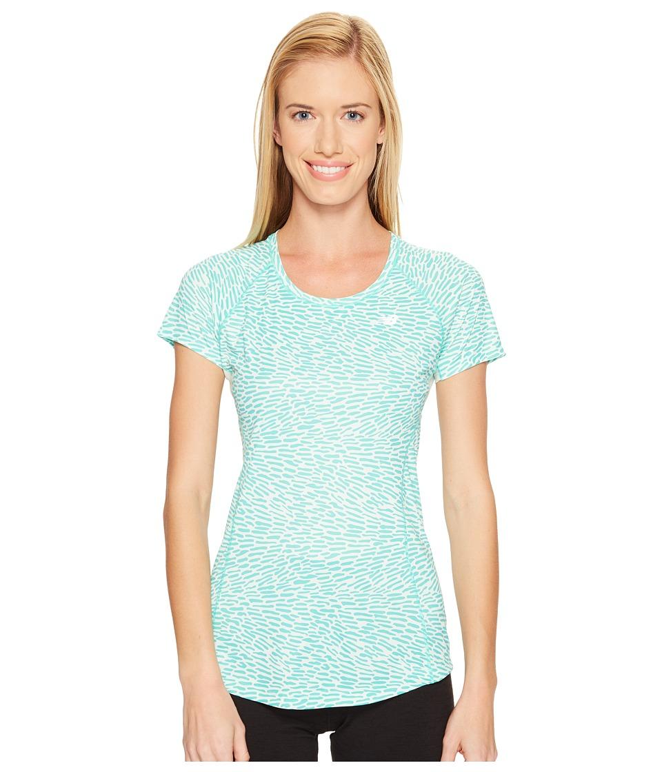 New Balance - NB Ice Short Sleeve (Reef/Multi) Women's Clothing