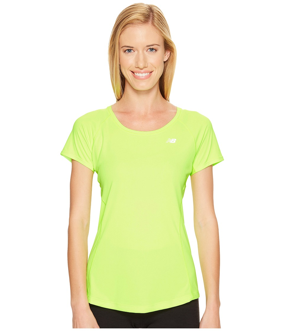 New Balance - NB Ice Short Sleeve (Toxic) Women's Clothing