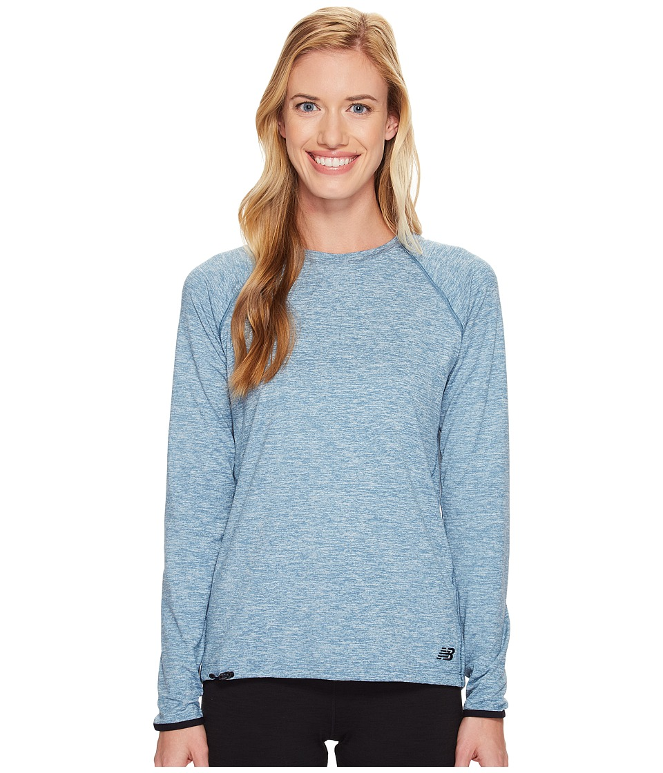 New Balance - Sport Style Long Sleeve Shirt (Riptide Heather) Women's Long Sleeve Pullover