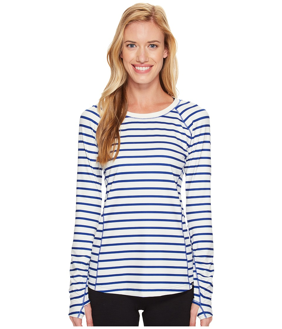 New Balance - In Transit Long Sleeve (Ultramarine/Pearl Stripe) Women's Long Sleeve Pullover