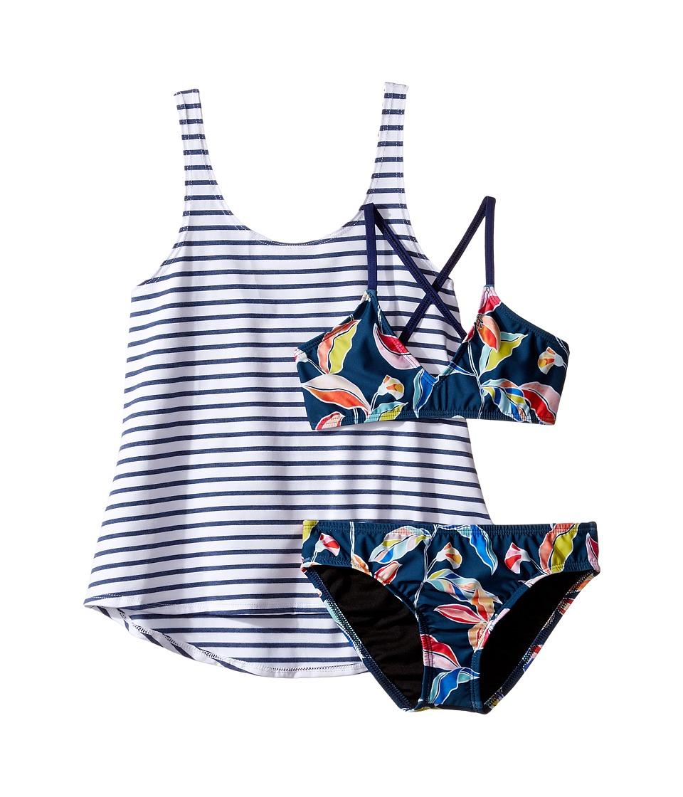 Splendid Littles - Tropical Traveler Double Dip Retro Pants (Big Kids) (Multi) Girl's Swimwear Sets