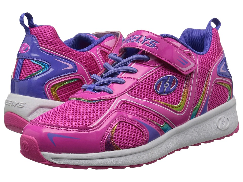 Heelys Rise x2 (Little Kid/Big Kid) (Hot Pink/Lilac/Rainbow) Girls Shoes