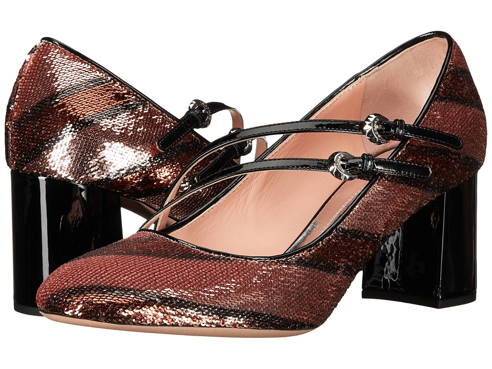 Rochas - RO28052-05035 (Dark Pink) Women's Maryjane Shoes