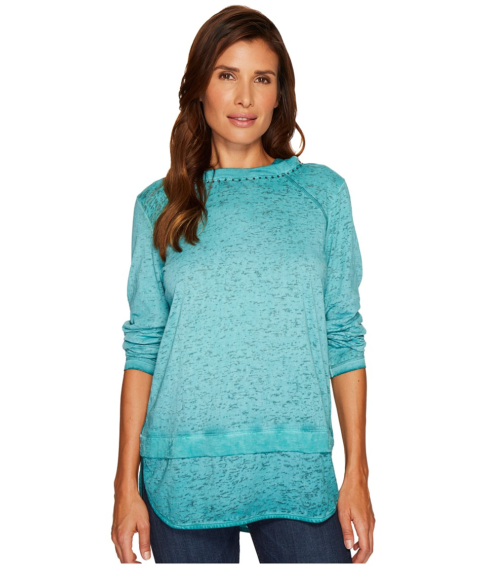 Jag Jeans Magna Hoodie in Burnout Jersey (Jewel) Women