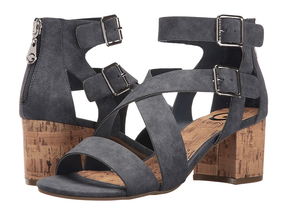 G by GUESS - Evvy (Denim Distressed Suede) High Heels