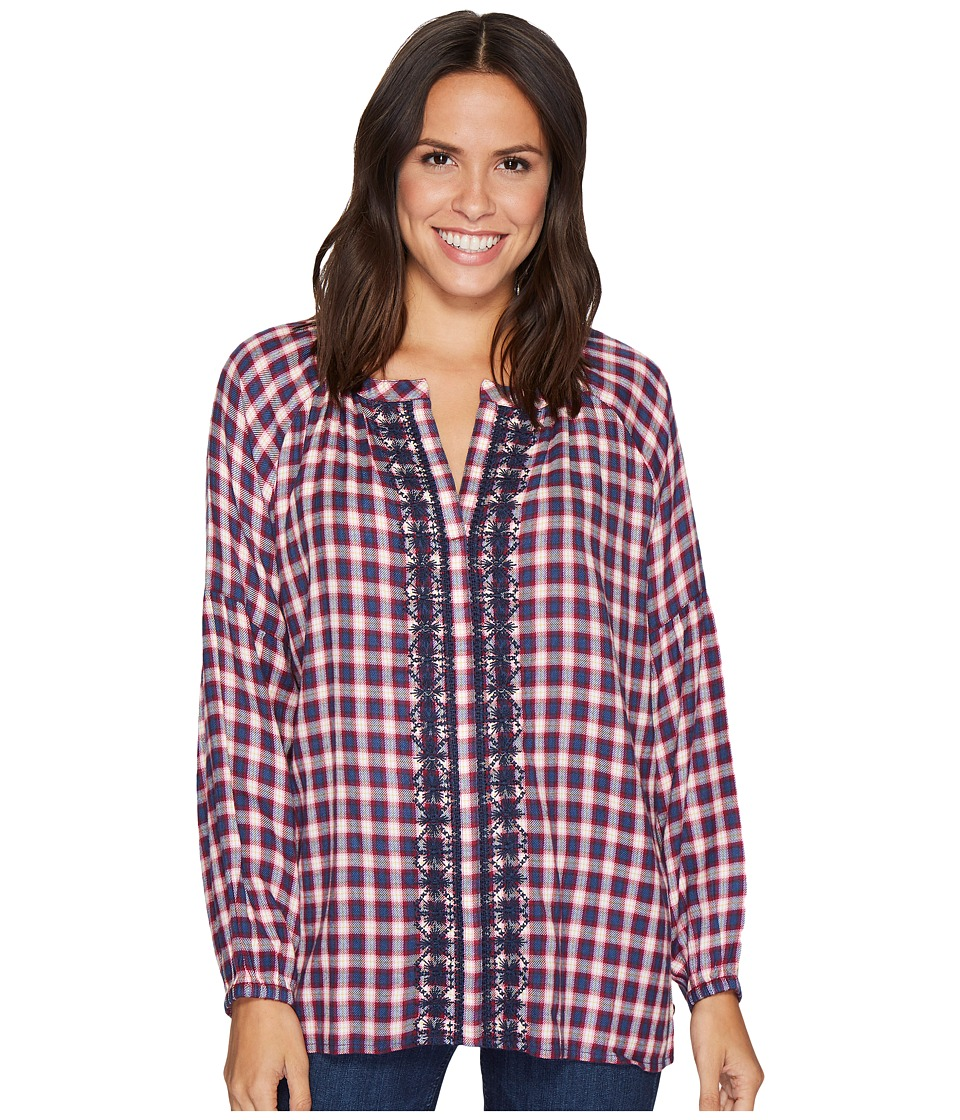 Jag Jeans - Casper Shirt in Yard Dye Cotton Rayon Plaid (Mini Window Plaid) Women's Long Sleeve Pullover