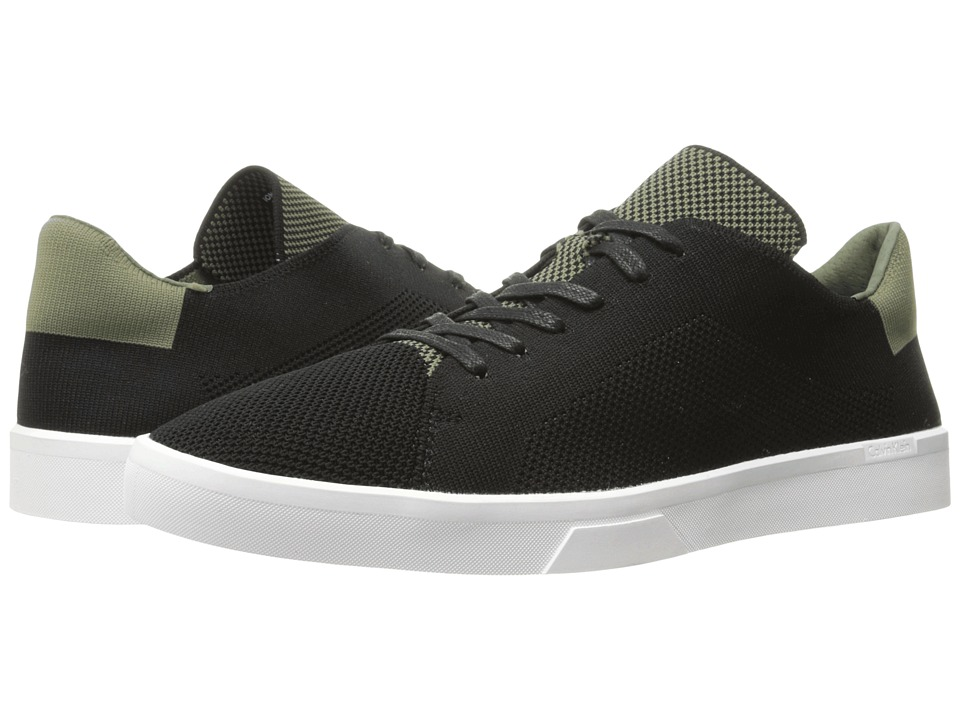 Calvin Klein - Ion (Black/Armour Green) Men's Lace up casual Shoes