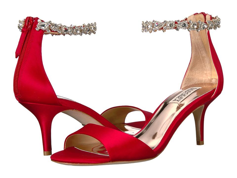 Badgley Mischka Geranium (Red Satin) High Heels