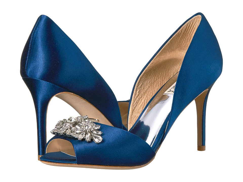 Badgley Mischka Kaden (Navy Satin) Women