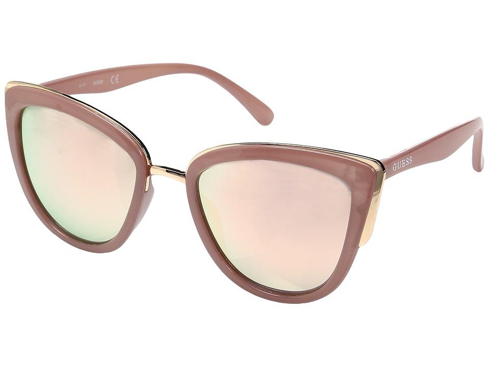 GUESS - GF0313 (Milky Blush/Rose Gold Mirror Lens) Fashion Sunglasses