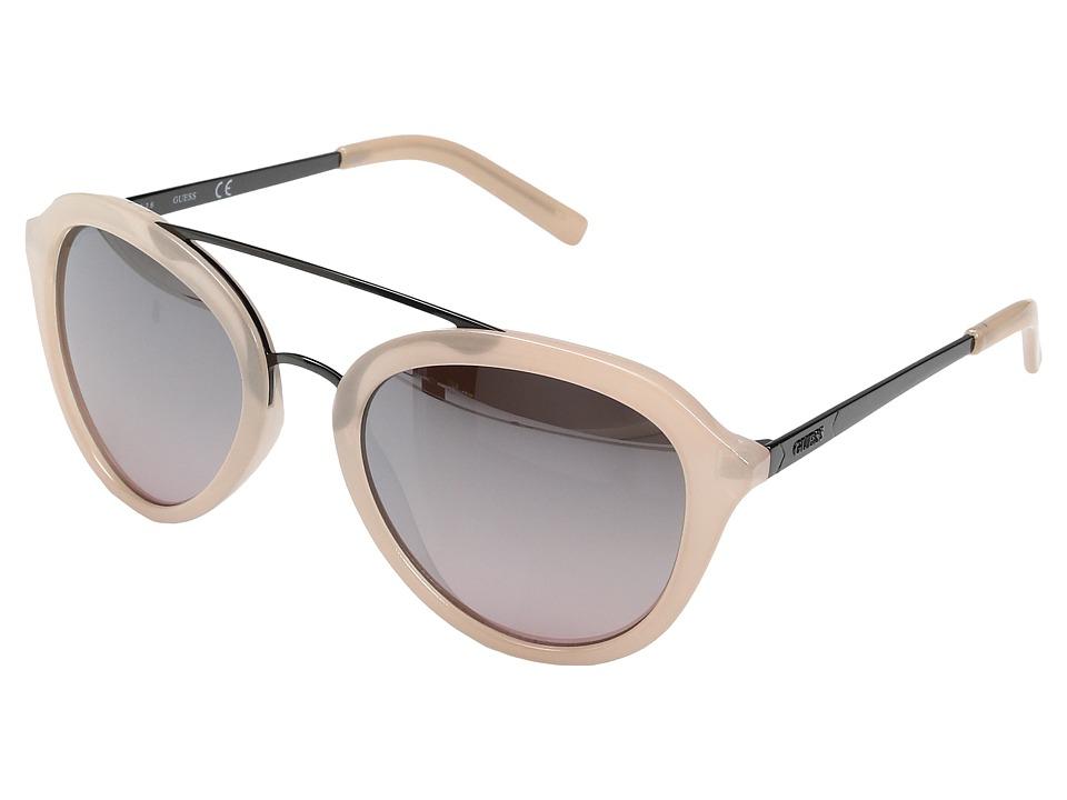 GUESS - GF0310 (Milky Blush/Rose Gold Mirror Lens) Fashion Sunglasses