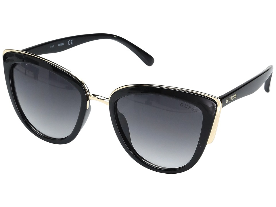 GUESS - GF0313 (Black/Gradient Smoke Lens) Fashion Sunglasses