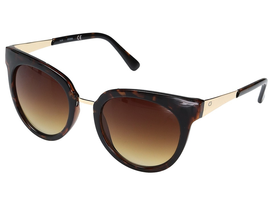 GUESS - GF0309 (Dark Havana/Gradient Brown Lens) Fashion Sunglasses